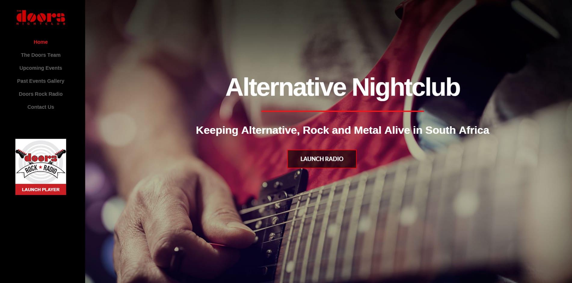 The Doors Nightclub Website